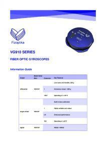 VG910 Gyromètre laser robuste