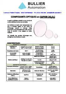 SAPHIR composants optiques BULLIER Automation
