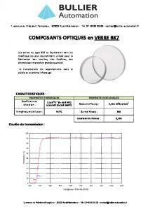 Verres BK7 - BULLIER Automation