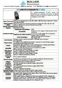 Luxmètre de Précision CL-200A - BULLIER