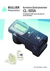 CL-500A Spectrophotomètre Konica Minolta