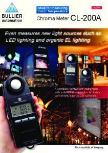 Luxmètre colorimètre portable CL-200A