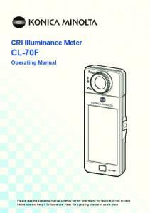 Luxmètre chromamètre IRC CL-70F