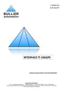 Manuel du logiciel IT-10AGPS