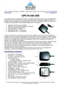 Récepteur GPS HI-206-USB