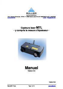 Capteur de déplacement M7L