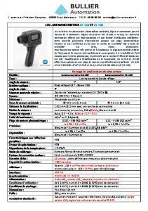 Luminancemètres portables LS-150 et LS-160