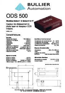 Capteurs laser série Red Line