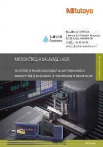 Micromètres à balayage laser