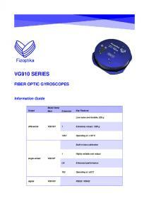 VG910 - Mode d'emploi du gyromètre