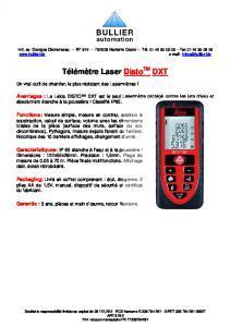 Télémètres Laser LEICA DXT  Fiche technique