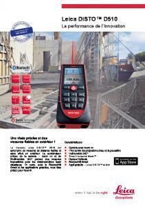 Télémètres Laser LEICA D510