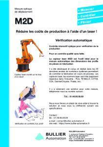 Fiche technique Scanner laser Mel M2D sur Robot