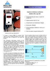Pour voir le descriptif détaillé sur le capteurs à ultrasons LRS3 -