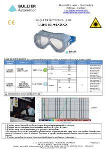 Masque LUN35B-M0 - Fiche technique