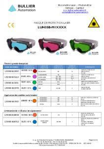 Masques LUN35B-M1 - Fiche technique