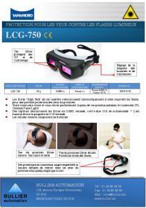 Lunettes pour lampes flash LCG-750