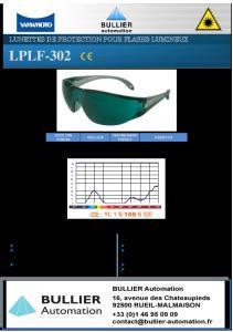 Lunettes pour lampes flash LPLF-302-BA