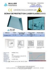 Filtre laser FLA35B-C1 - Fiche technique