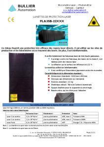Rideau de protection laser FLA35B-22