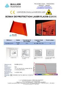 Films de protection laser FLA35B-C2