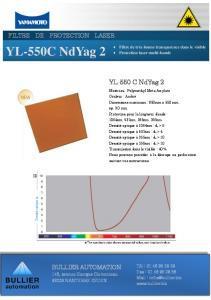 Fiche technique Filtres de protection YL-550 C