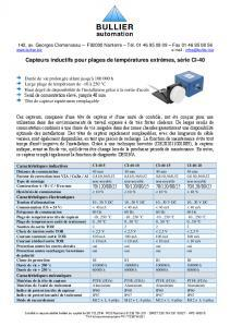 Capteurs inductifs CI-40