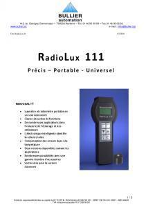 Descriptif des Luxmètres-Radiomètres PRC Krochmann