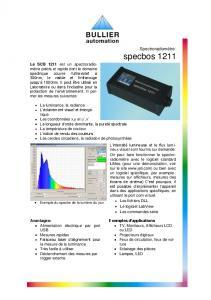 Fiche technique spectrophotomètres SCB 1211