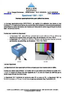 spectrophotomètre Spectraval 1501 - 1511