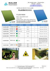 Films de protection laser FLA35B-5