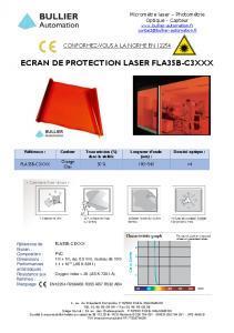 Filtre laser FLA35B-C3 - Fiche technique