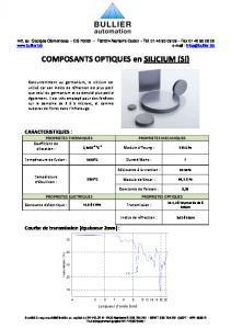 Silicium - Composants optiques