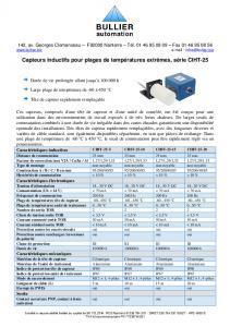 Capteurs inductifs CIHT-25