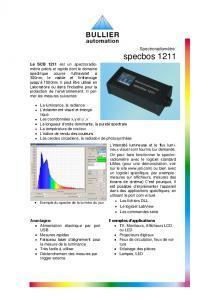 SPECBOS 1211 - Spectroradiomètre