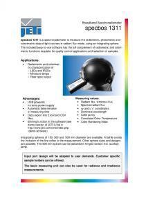 SPECBOS 1311 - Spectroradiomètre