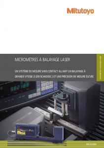 Micromètres laser scans Mitutoyo