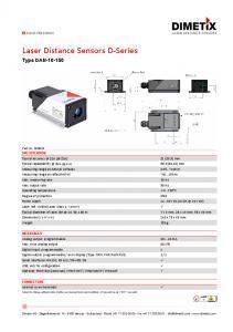 Télémètres laser industriels série D