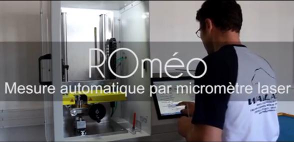 ROméo   Système automatique et sans contact de mesure des cotes de pièces cylindriques